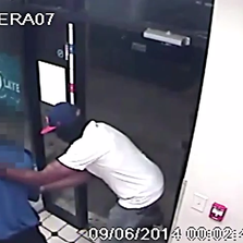 Police are searching for two persons of interest in connection with an armed NE, DC robbery.