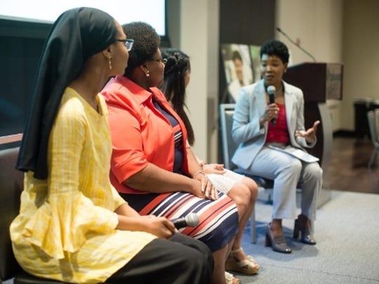 (L-R) BlueCross Diversity Scholarship recipients Takiyah