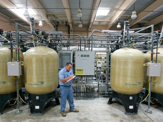 Water Control Operator Steve Hernandez works at a Coachella Valley Water District plant that pulls arsenic and chromium from water.