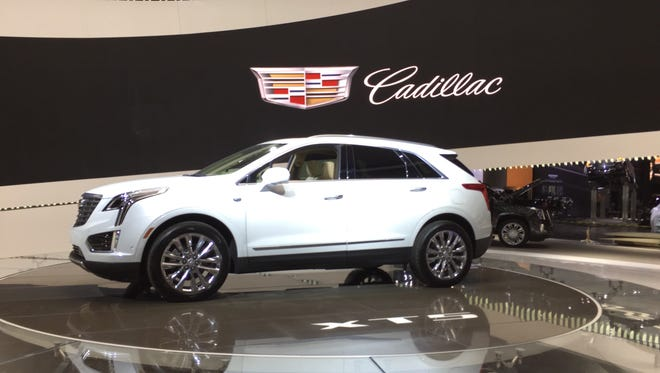 The 2017 Cadillac XT5 SUV makes its U.S. debut at the Los Angeles auto show.