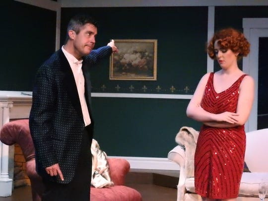 Jeff Wherley and Lydia Bailey rehearse a scene from