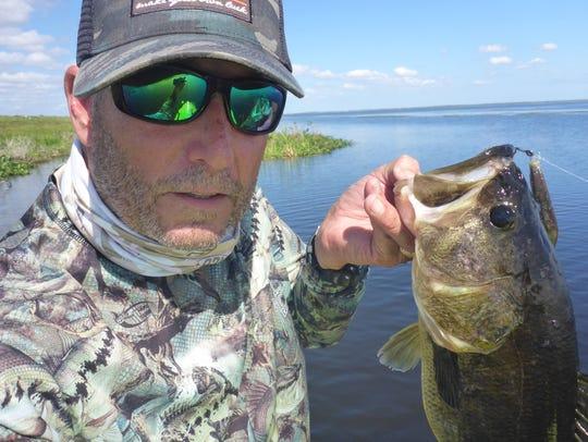 Peter Hinck of Sebastian, a paddleboard angler, caught