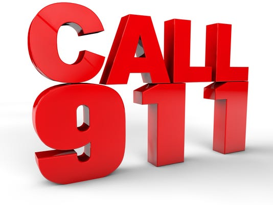 Call 911 emergency call 3d text