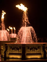 Longwood Gardens has 30 fountains with propane jets