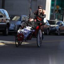 Loving push: Sinko warms up for Boston Marathon with Caesar Rodney run
