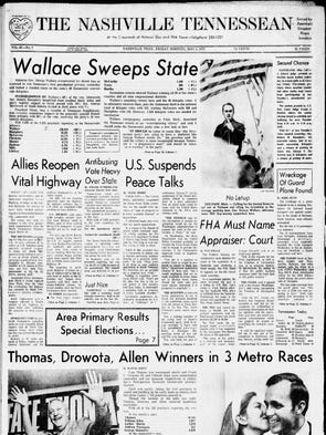 Democrat George Wallace won Tennessee's first Democratic