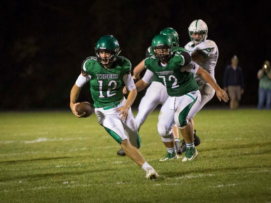 Yorktown's Reid Neal takes advantage of an opening