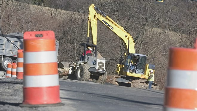 File photo / Road construction on Frontier Drive is seen Thursday, Jan. 19, 2006. The construction is a major concern for many of the streets residents.