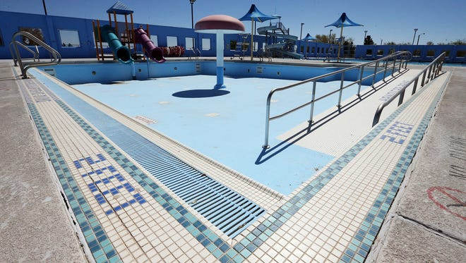 The children's pool at the Ascarate Park Aquatic Center will be re-plastered as part of improvements planned for the center, which also include replacing the pool's filters.