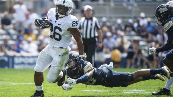 Will Saquon Barkley finally break out on the ground Saturday vs. Temple? He may need better blocking up front to do that.