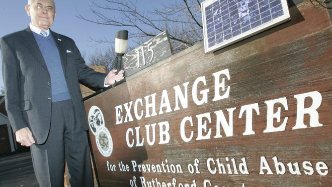 John Hood is a charter member of Exchange Club of Murfreesboro. The clubs supports the center that works to prevent child abuse.