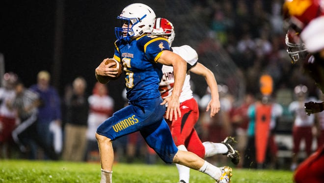 Northern Lebanon's Stephen Herb finds running room to the end zone as Northern Lebanon ran over Annville-Cleona 41-13 on Friday night..