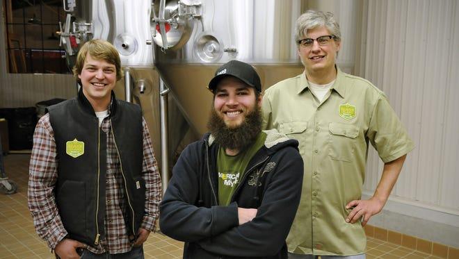 Matt Studer, Nick Barth and Chris Laumb run Beaver Island Brewing Co.