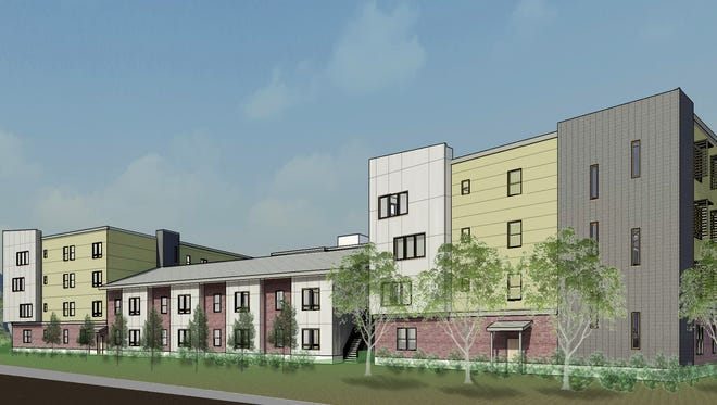 A rendering of the East Haven Apartments, a future 95-unit complex, scheduled to be constructed in Swannanoa.