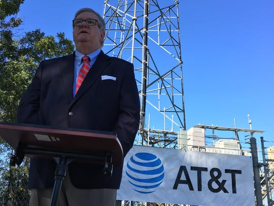 AT&T's Ty Fondren speaks Tuesday about new rural internet