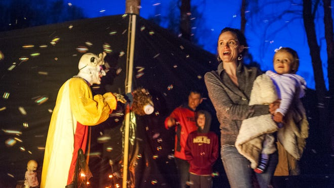 This year, the Haunted Trail takes place at Pisgah Brewing and offers entertainment for families and fright lovers.