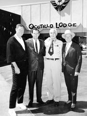 From right, Gene Autry, George Alexander and two unidentified men, circa 1963.