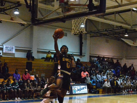 Greensville County senior forward DeAndre Anderson,