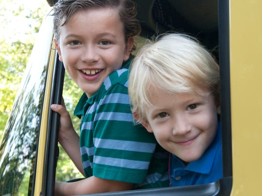 Caeden Stoll (right), 5, Toms River, is a cancer survivor. He is with his brother Ryan, 8.