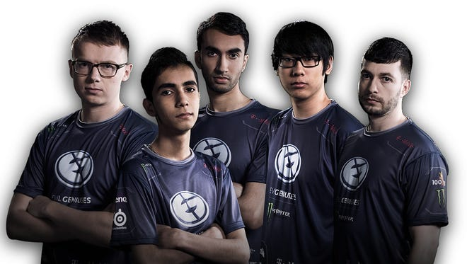 Members of the Evil Geniuses team that competed in The International Dota 2 Championships.