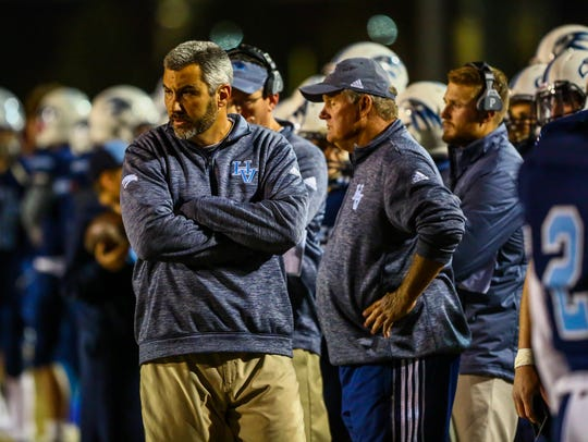 Hardin Valley coach, Wes Jones looks on from the sideline
