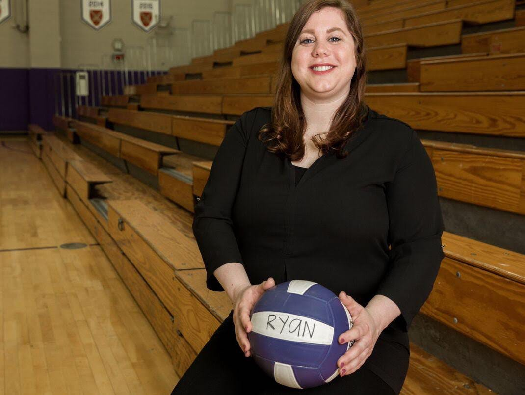 Ann Mullins is in her first season as Father Ryan's volleyball coach. She is a former Lady Irish standout.