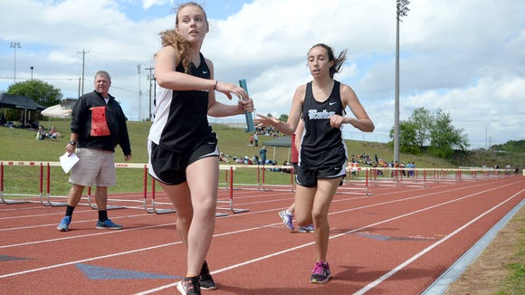 Enka runners compete in last week's Mountain Athletic Conference track meet at Erwin.