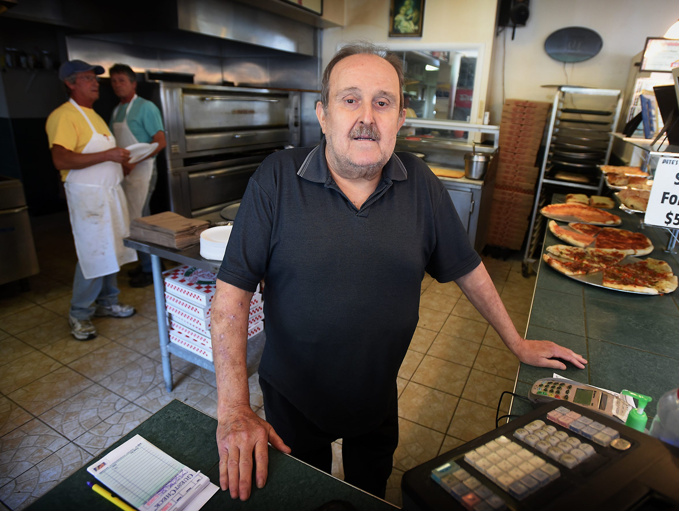 Pete Martorana, the owner of Pete's Pizza, opened his