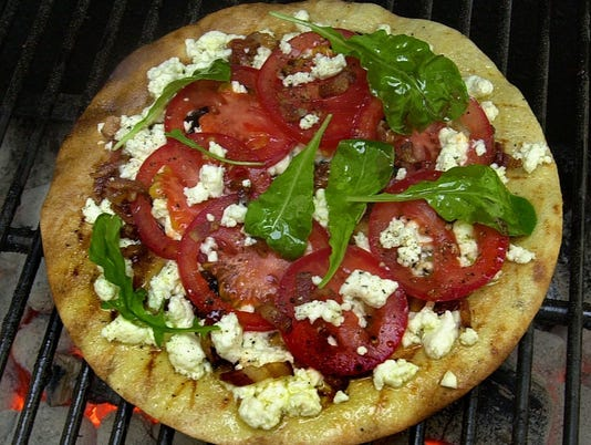 Tomato, Feta and Pancetta Pizza