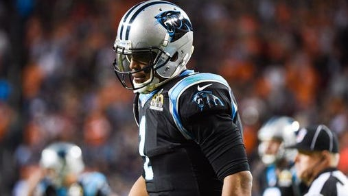 Carolina quarterback Cam Newton admitted he was a sore loser after his Super Bowl loss.