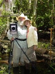 Wilderness photographer Clyde Butcher and his wife,