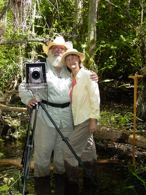 Wilderness photographer Clyde Butcher and his wife, Niki, are hosting a fundraiser to benefit the Big Cypress National Preserve's environmental education program.