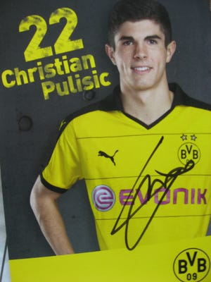 Christian Pulisic of Hershey is the youngest player in European soccer to score two goals in a season.