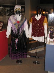Authentic Slovenian costumes are part of a Stearns History Museum exhibit developed with assistance from Marge Pryately and other community members of Slovenian descent.