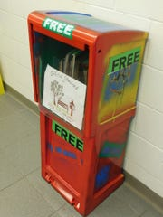 Old newspaper boxes from The News-Messenger were donated