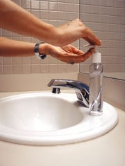 Hand washing is an important defense against the spread of disease.