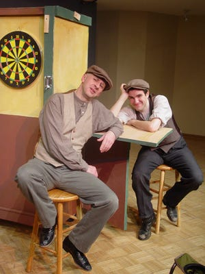 """Robert W.C. Kennedy and Joe Picchetti perform in Windfall Theatre's """"Stones in His Pockets."""""""