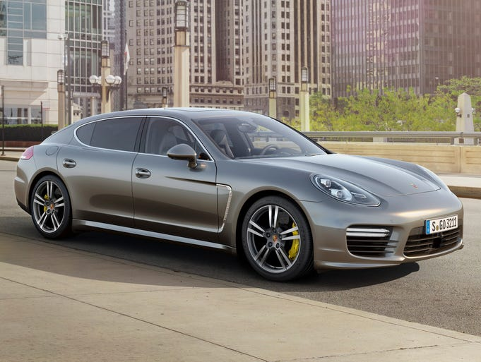 Porsche Panamera Turbo S shown in its stretched version