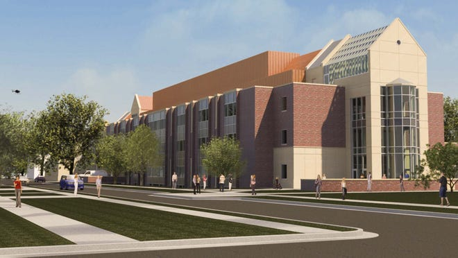 The new Mulva-Gehl Science Center at St. Norbert College in De Pere, now being built, will be shared with the Medical College of Wisconsin.