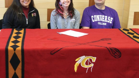 Cherokee senior Reagan Barnard has signed to play basketball for Converse College (S.C.).
