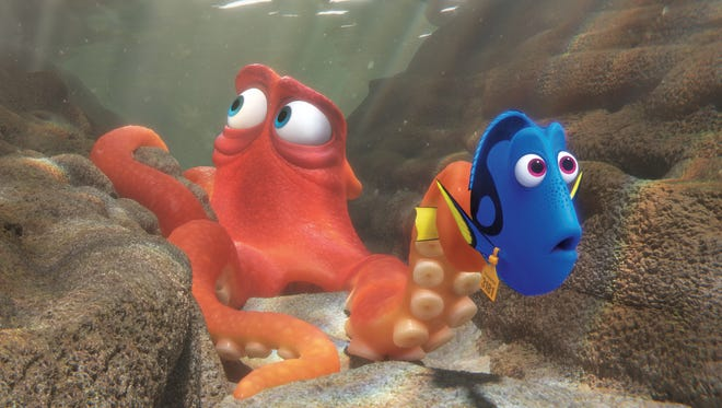When Dory finds herself in the Marine Life Institute, a rehabilitation center and aquarium, Hank—a cantankerous octopus—is the first to greet her.