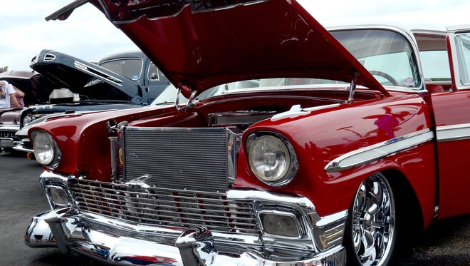 Hundreds of classic cars pack the parking lot of the Bonanza Casino on Sunday for the annual Show-n-Shine in Reno. The event kicked-off the week-long Hot August Nights classic car show.