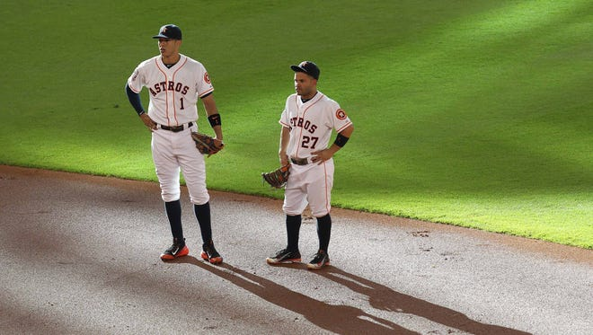 Shortstop Carlos Correa and baseman Jose Altuve have spent of time away from this traditional positions.