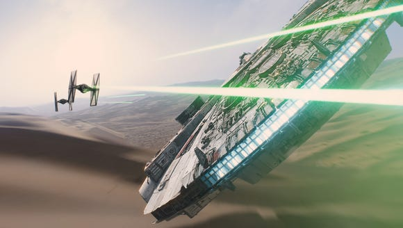 The good ol' Millennium Falcon in 'The Force Awakens'