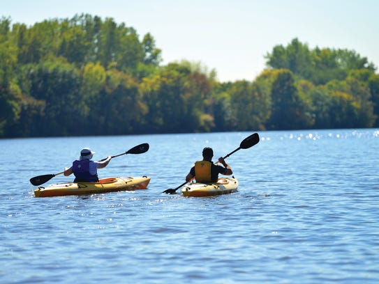 Kayaking in Overpeck Lake, where the Hackensack Riverkeeper has a public kayak center.