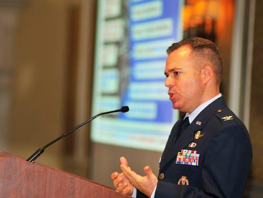 U.S. Air Force Col. Walt Jackim, vice commander of