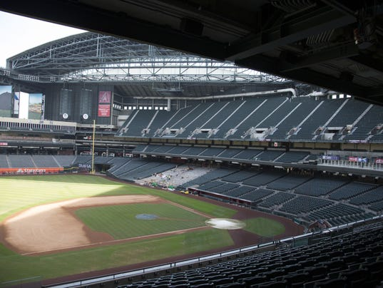 Chase Field construction