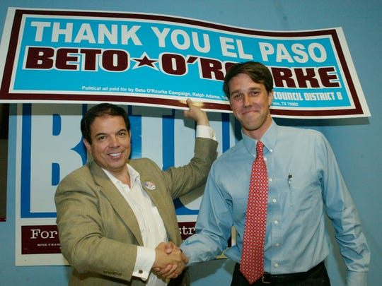 A 2005 photo of Beto O'Rourke after he heard he was elected to the El Paso City Council.