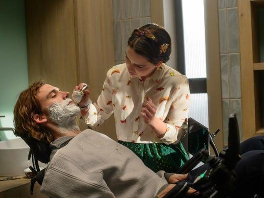 """Sam Claflin and Emilia Clarke in """"Me Before You."""""""