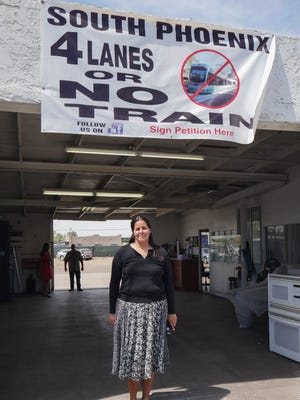 Celia Contreras, owner of Tony's Window Tinting, said she is concerned that removing several lanes of traffic would make traffic back up on Central Avenue, and take drivers out of the area.